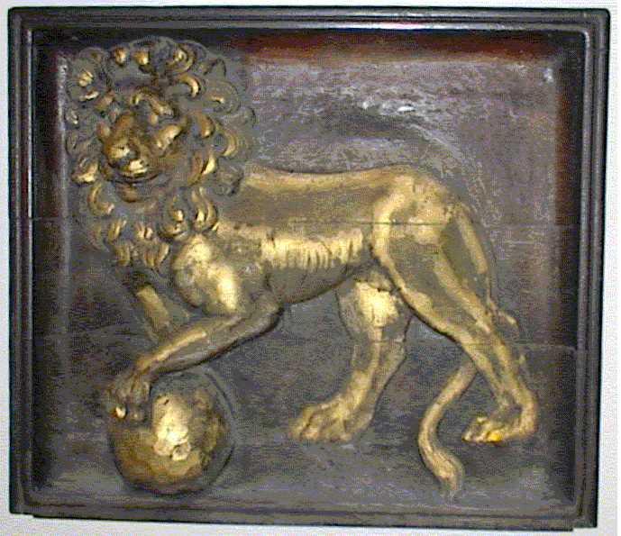 Skylt från Apoteket Lejonet