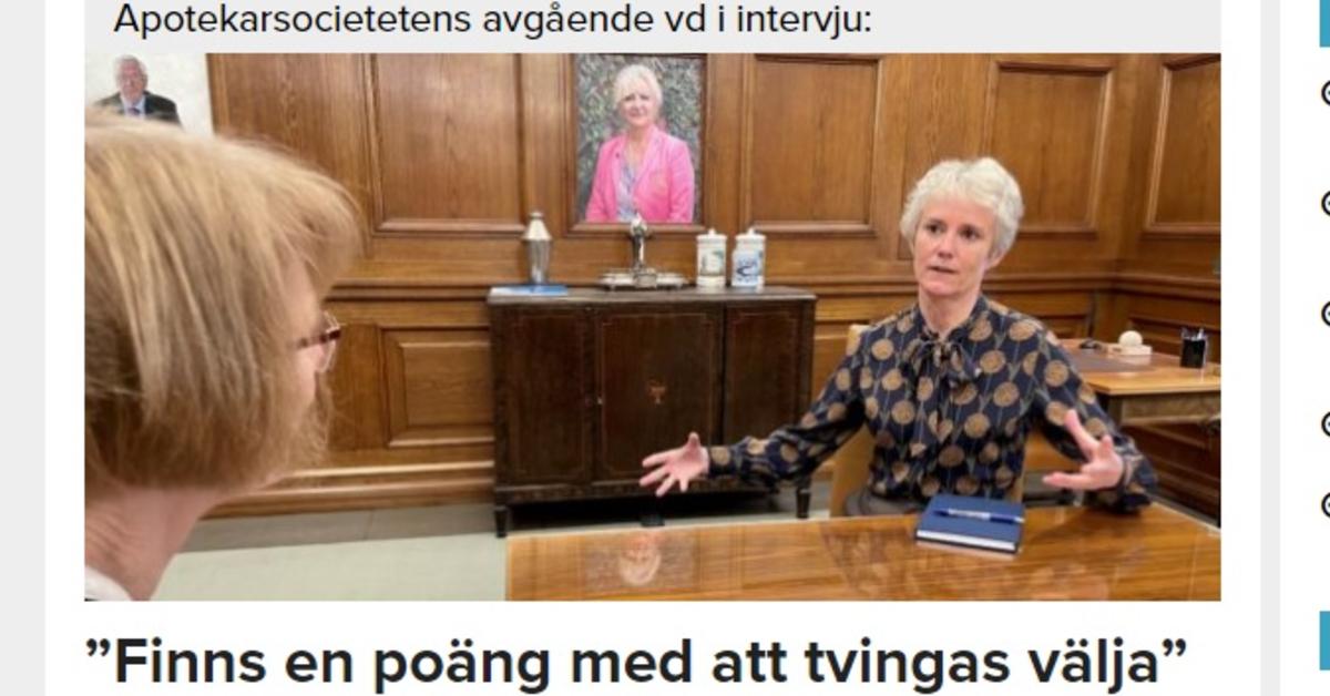 Karin Meyer, avgående vd Apotekarsocieteten